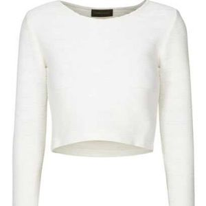 Storm & Marie Tops - ASOS {Storm & Marie} Textured White Elegant Top